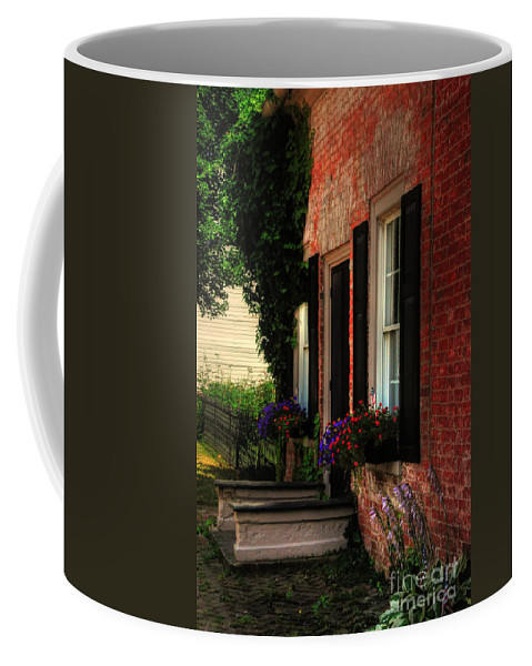 Window Boxes Coffee Mug featuring the photograph Window Boxes by Lois Bryan