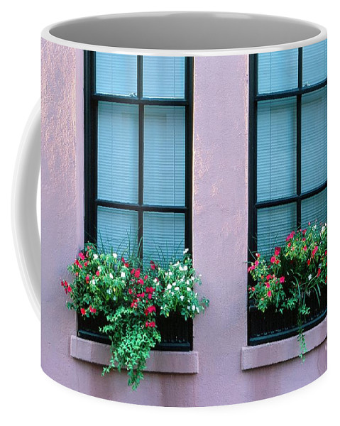 Flowers Coffee Mug featuring the photograph Window Boxes by Ronnie Glover