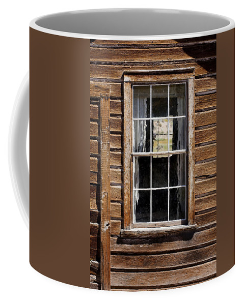 Wood Texture Coffee Mug featuring the photograph Window In A Window by Kelley King