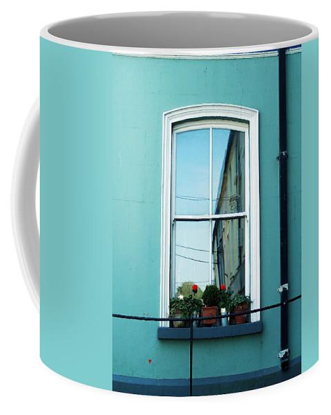 Irish Coffee Mug featuring the photograph Window In Ennistymon Ireland by Teresa Mucha