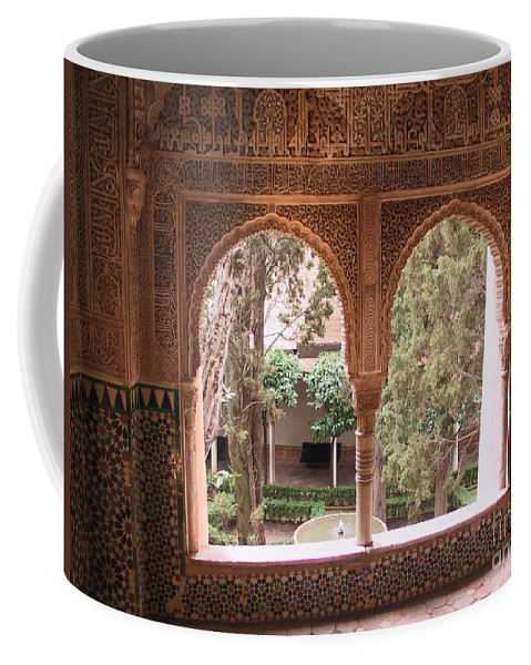 Window Coffee Mug featuring the photograph Window In La Alhambra by Thomas Marchessault