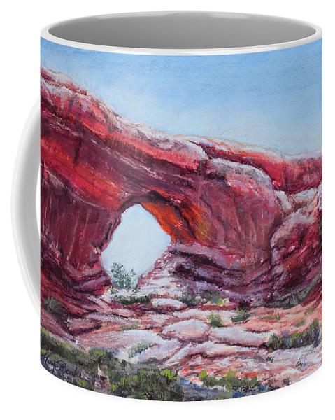 Window Coffee Mug featuring the painting Window by Mary Benke