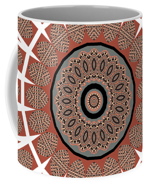 Window Coffee Mug featuring the photograph Window Mosaic - Mandala - Transparent by Nikolyn McDonald