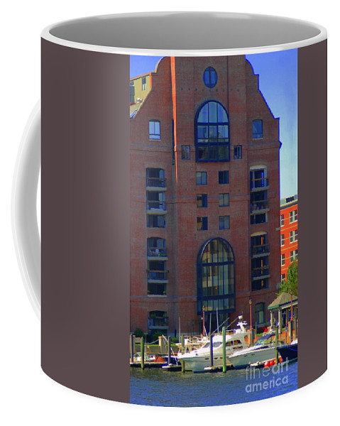 Building Coffee Mug featuring the photograph Window Reflections by Kathleen Struckle