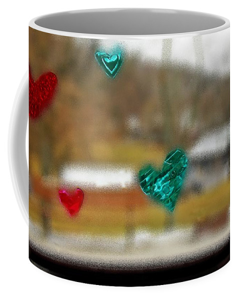Various Coffee Mug featuring the photograph Window Stickers by Karl Rose