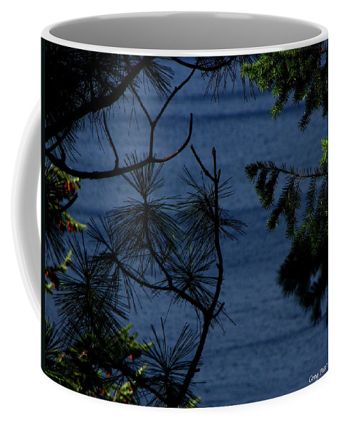 Patzer Coffee Mug featuring the photograph Window To The River by Greg Patzer