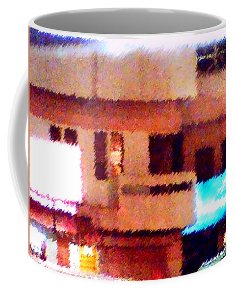 Digital Art Coffee Mug featuring the painting Windows by Anil Nene