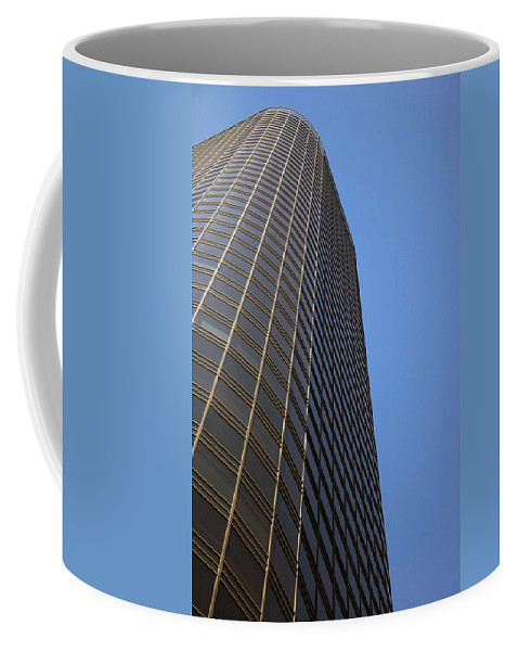 Building Coffee Mug featuring the photograph Windows To The Top by Karol Livote