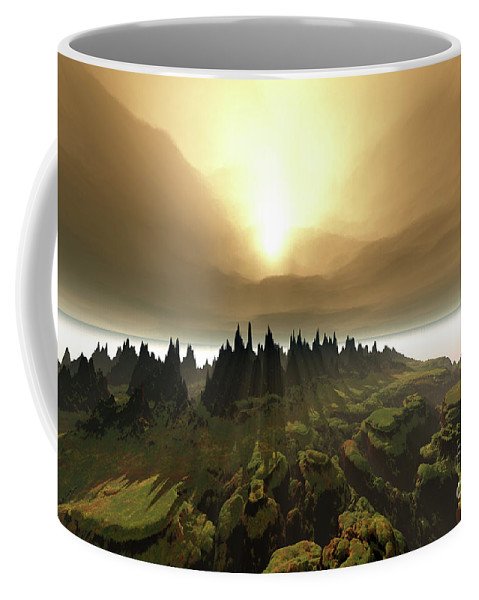 River Coffee Mug featuring the painting Windrift by Corey Ford