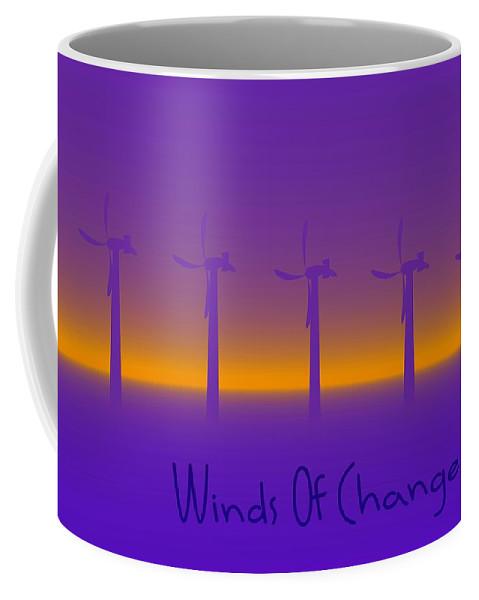 Windmills Coffee Mug featuring the digital art Winds Of Change by Robert Orinski