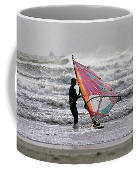 Windsurfer Coffee Mug featuring the photograph Windsurfer, Aransas Pass, Texas by Buddy Mays