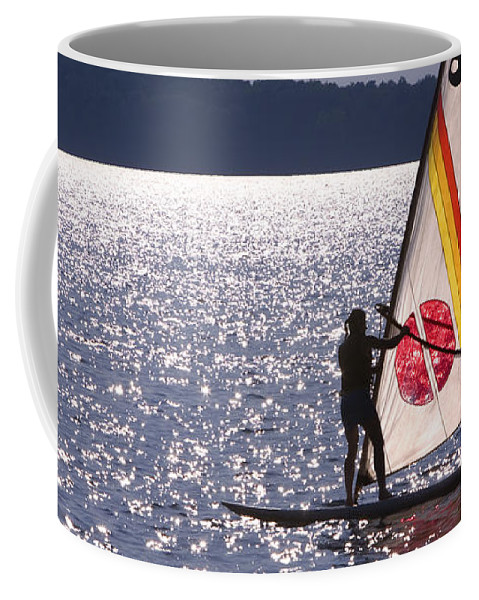 Wind Surfing Coffee Mug featuring the photograph Windsurfing Lake Champlain by George Robinson