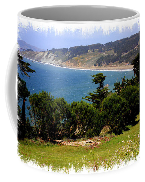 San Francisco Bay Coffee Mug featuring the photograph Windswept Over San Francisco Bay by Carol Groenen