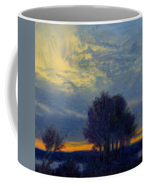 Sundown Coffee Mug featuring the painting Windswept Sky by Phyllis Tarlow