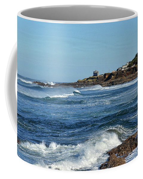 Ocean Coffee Mug featuring the photograph Windy Day At Yachats by Todd Bartush