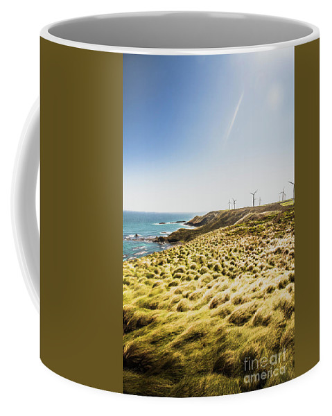 Ocean Coffee Mug featuring the photograph Windy Meadows by Jorgo Photography - Wall Art Gallery