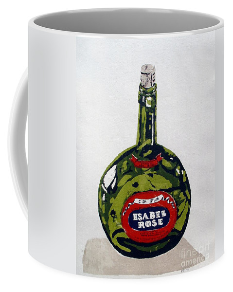 Silk Screen Coffee Mug featuring the mixed media Wine Bottle by Ron Bissett