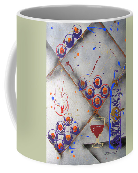 Wine Coffee Mug featuring the painting Wine Connoisseur by J R Seymour