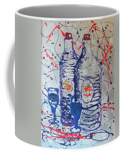 Wine Glass And Bottles Coffee Mug featuring the painting Wine Jugs by J R Seymour