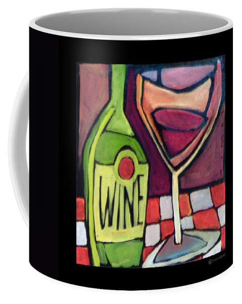 Wine Coffee Mug featuring the painting Wine Squared by Tim Nyberg