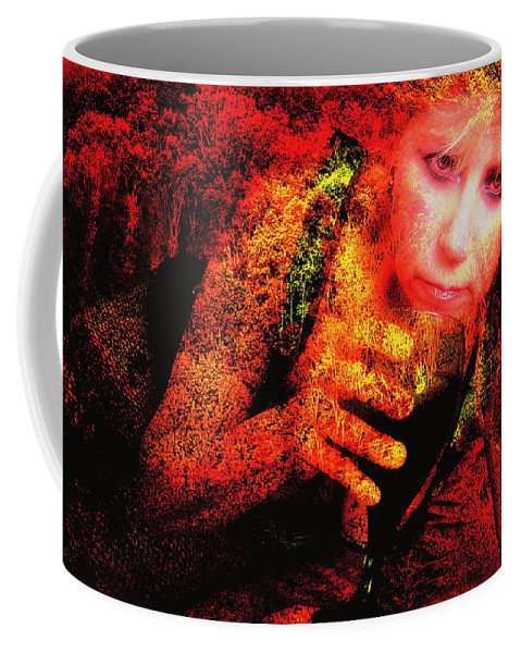 Clay Coffee Mug featuring the photograph Wine Woman And Fall Colors by Clayton Bruster