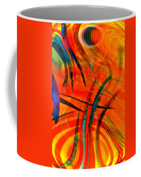 Abstract Coffee Mug featuring the digital art Wings by Gwyn Newcombe