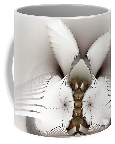 Fractal Coffee Mug featuring the digital art Wings In Motion by Amorina Ashton