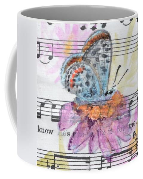 Butterfly Coffee Mug featuring the painting Wings V by Beverley Harper Tinsley