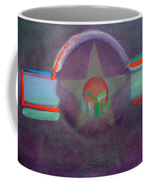 Star Coffee Mug featuring the painting Wings Vermillion  by Charles Stuart
