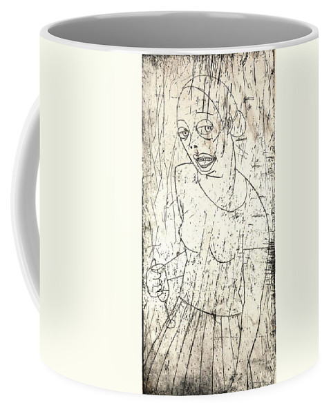 Clay Coffee Mug featuring the painting Wino by Thomas Valentine