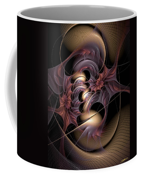 Abstract Coffee Mug featuring the digital art Winsome Translation by Casey Kotas