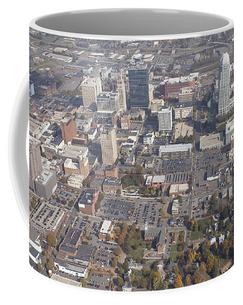 Aerial Coffee Mug featuring the photograph Winston-salem Nc by Robert Ponzoni