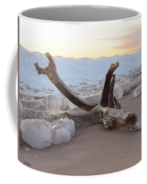 Winter Landscape Coffee Mug featuring the photograph Winter Beach by Alison Gimpel