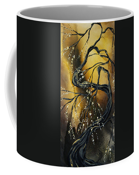 Art Coffee Mug featuring the painting Winter Blossom By Madart by Megan Duncanson