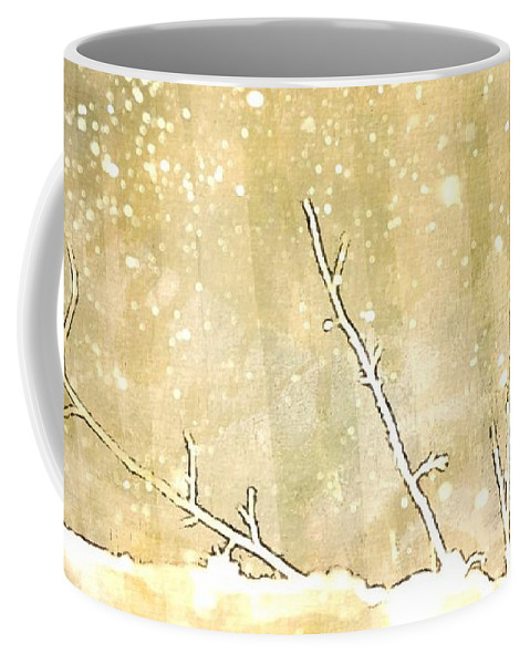 Snow Coffee Mug featuring the digital art Winter Born by Ellen Cannon