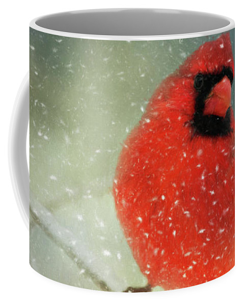 Animal Coffee Mug featuring the photograph Winter Card by Lana Trussell
