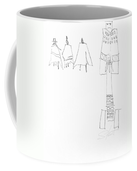 Native Americans Coffee Mug featuring the painting Winter by Charles Stuart