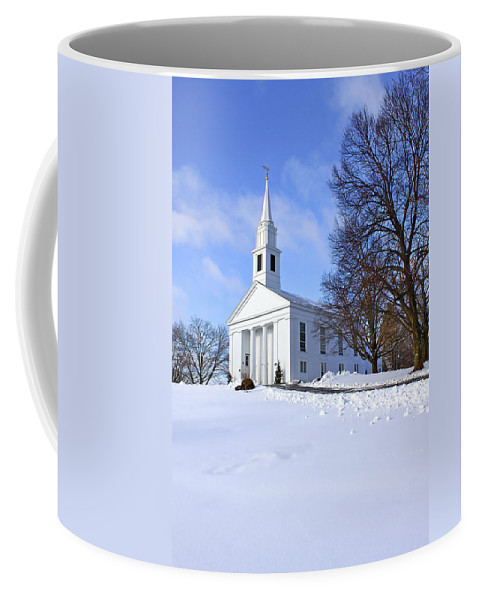 Beautiful Coffee Mug featuring the photograph Winter Church by Evelina Kremsdorf