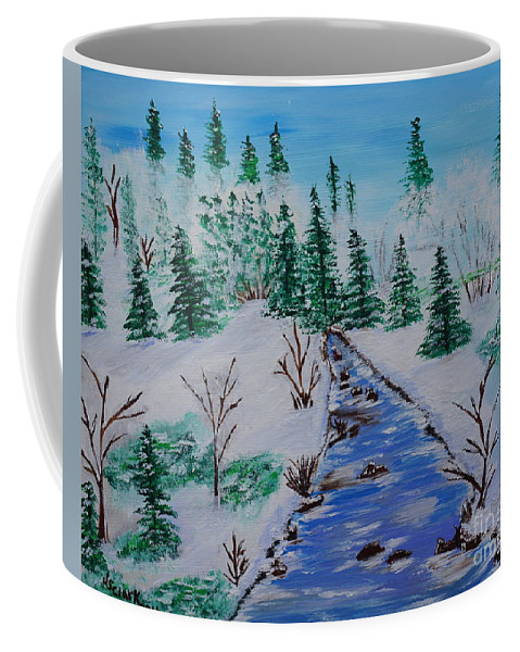 Snow Coffee Mug featuring the painting Winter Calmness by Jimmy Clark