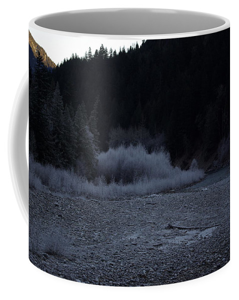 Winter Coffee Mug featuring the photograph Winter Creek by Cindy Johnston