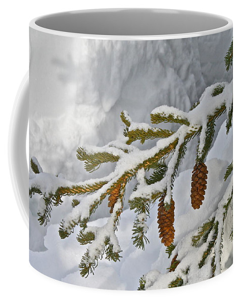 Snow Coffee Mug featuring the photograph Winter Dusting by Rick Monyahan