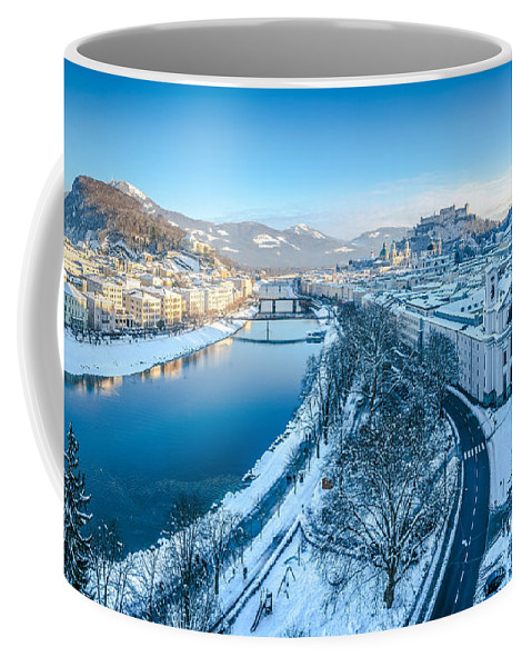 Alps Coffee Mug featuring the photograph Winter Greetings From Salzburg by JR Photography