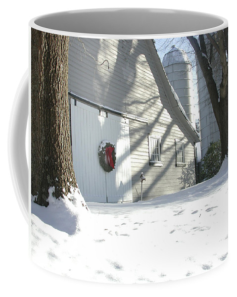 Winter Coffee Mug featuring the photograph Winter Holiday At The Farm. by Robert Ponzoni