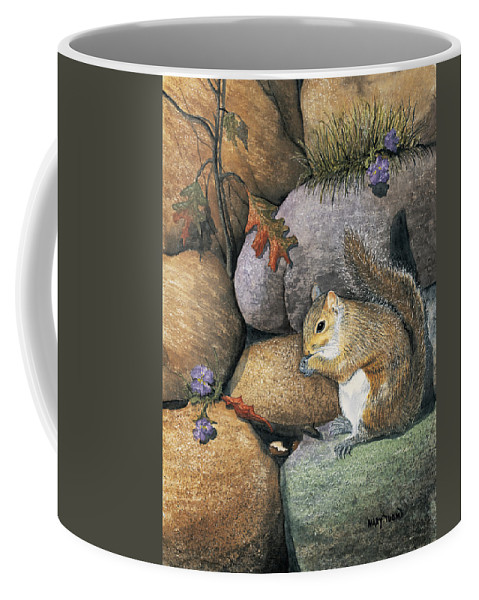 Nature Coffee Mug featuring the painting Winter Is Coming by Mary Tuomi