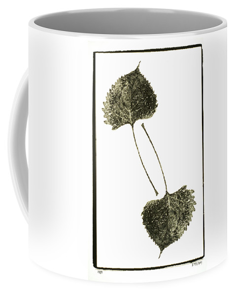 Fine Art Photography Coffee Mug featuring the photograph Winter Leaf by Jerry McElroy