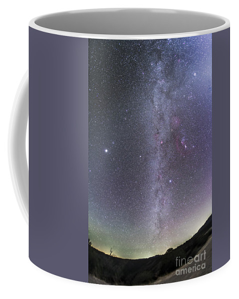 Beehive Cluster Coffee Mug featuring the photograph Winter Milky Way From New Mexico by Alan Dyer