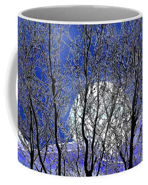 Moon Coffee Mug featuring the digital art Winter Moon by John Selmer Sr
