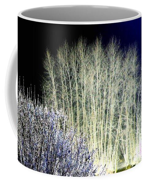 Winter Coffee Mug featuring the digital art Winter Moonlight by Will Borden
