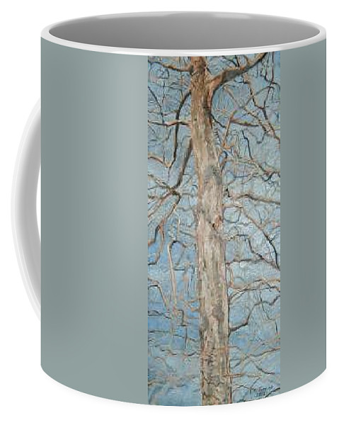 Tree Coffee Mug featuring the painting Winter Morning by Leah Tomaino