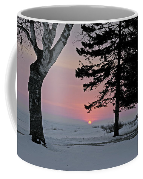 Old Mackinac Point Coffee Mug featuring the photograph Winter Morning by Michael Peychich